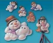 2002003 Giessform Lustige Schneemänner *