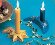 2002026 Giessform Kerzenhalter Mond+Stern*