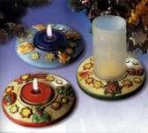 2002030 Giessform Kerzenhalter Weihnachten