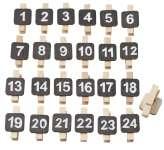 3270077 Adventszahlen auf Klammer 1-24 natur