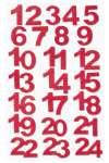 3270082 Filz-Adventszahlen 1-24 rot