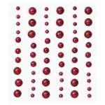 3451766 Stony-Stickers Halbperlen 60St. bordeau