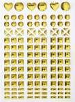 3451830 Sticker  I gold A+