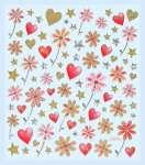 3452310 Des.Sticker Hochz.Blumen/Herze *