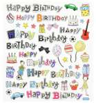 3452346 Hobby-Design Sticker HappyBirthday
