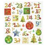 3452367 Design-Sticker Adventszahlen 1-24