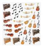 3452425 Design-Sticker Musik-Instrument