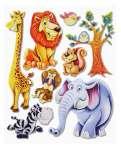3452502 3 D Sticker XXL Afrika-Tiere