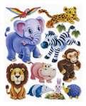 3452511 3 D Sticker XXL Zootiere
