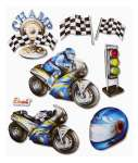 3452545 3 D Sticker XXL Motorrad