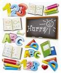 3452560 2 D Sticker XXL Schule III