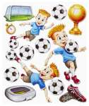 3452561 3 D Sticker XXL Fussball II