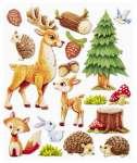 3452563 3 D Sticker XXL Tiere ind Wald und Wiese
