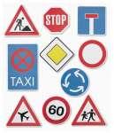 3452575 3D Sticker XXL Verkehrsschilder