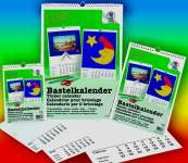 510481 Bastelkalender weiss A4
