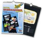 510489 Bastel-Dauerkalender schwarz A4
