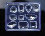 526042 Silikonform Diamant 10 Formen
