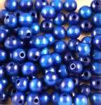 550460 Holzperlen  4mm 200St blau