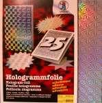 563302 Hologrammfolie sk, silber 23x33  5St