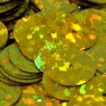 568192 Pailletten  6mm Glitter gold