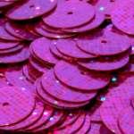568195 Pailletten  6mm Glitter pink