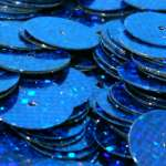 568196 Pailletten  6mm Glitter blau