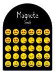 588175 Magnet Smiley, 4fach sortiert