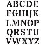 9320725 Stencil Buchstaben gross 26tlg