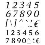 9320727 Stencil Zahlen / Buchstaben 34tlg