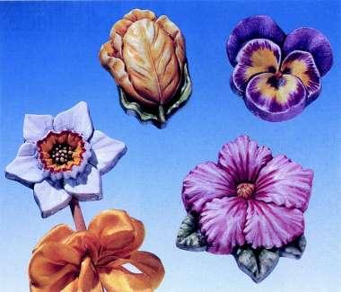 2000102 Giessform Frühlingsblumen      *