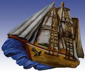 2000252 Giessform Schiff auf hoher See        *