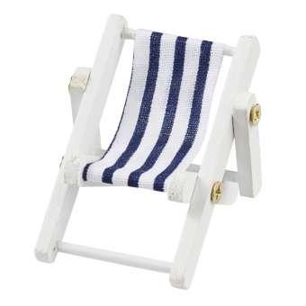 3270018 Miniliegestuhl 5x3,5cm, blau/weiss