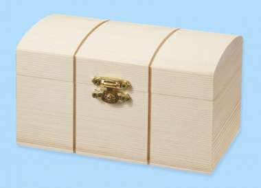 3270143 Holz-Truhe          13.5x8x7.5cm