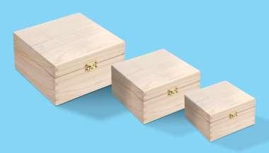 3270162 Holz-Boxen Set à 3