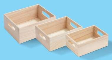 3270164 Holz-Boxen Set à 3