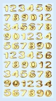 3451106 Sticker Zahlen gold