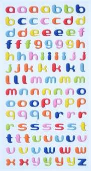 3451110 Sticker Kleinbuchstaben farbig