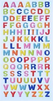 3451114 Sticker Grossbuchstaben farbig