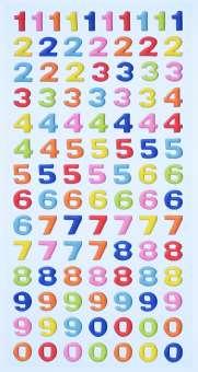 3451117 Sticker Zahlen farbig