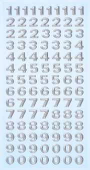 3451119 Sticker Zahlen silber