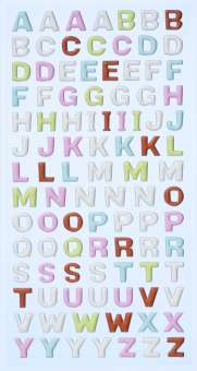 3451130 Sticker Buchstaben gross pastell