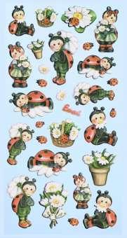 3451157 Sticker Lustige Marienkäfer