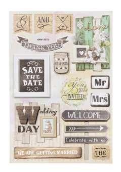 3451540 Sticker Hochzeit Vintage II