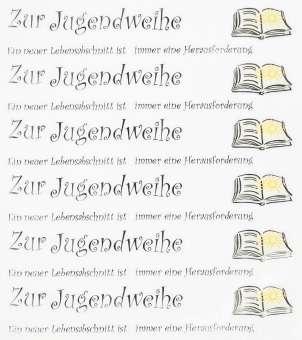 3452400 Design Sticker ZurJugendweiheII*