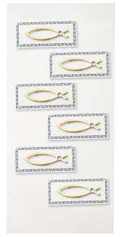 3453013 Sticker Fische gold    6St