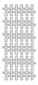 3460237 Sticker Kreuz gold