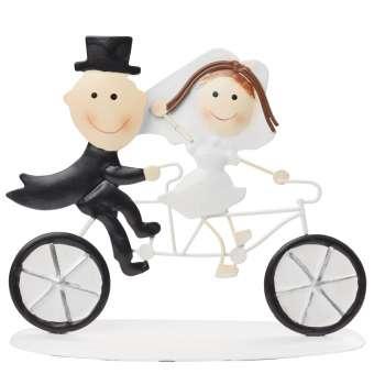 3473207 Hochzeitspaar Fahrrad, 12,5x10cm, metall