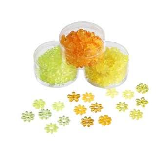 3860305 Acrylblüten 20mm gelb/ orange/ grün K