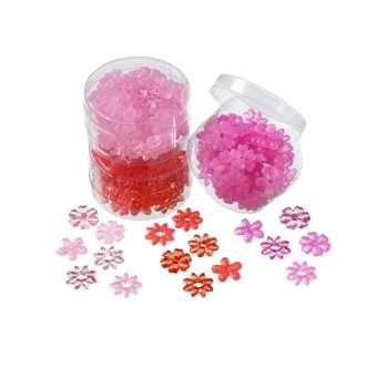 3860306 Acrylblüten 20mm rot/ rosa/ pink
