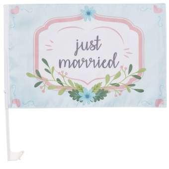 3864201 Wedding-Flag Just..   30x45cm